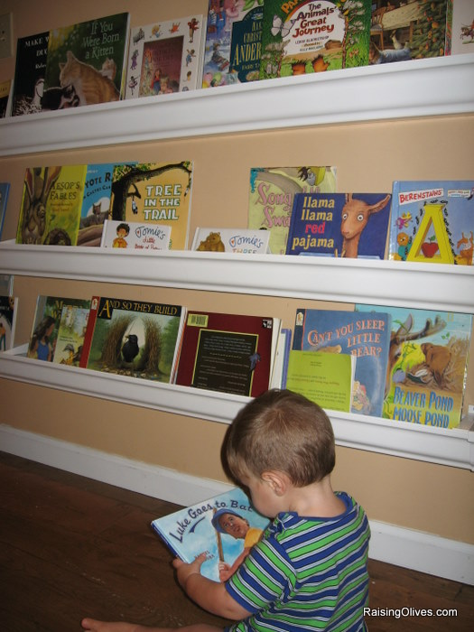 Rain Gutter book shelves tutorial