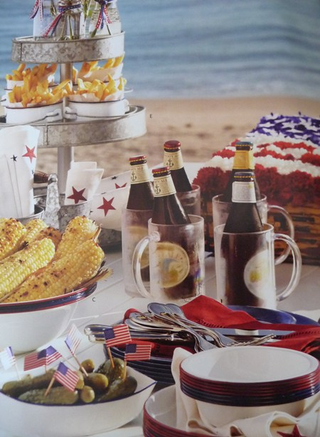 Pottery Barn 4th of July flower designs and BBQ video's