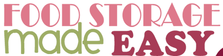 Emergency food storage ideas
