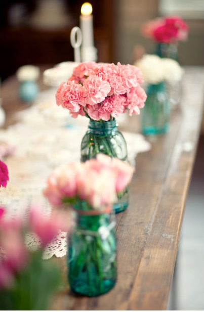 Inexpensive DIY wedding flower ideas