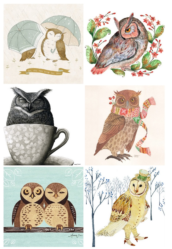2013 Owl Calendar:: free printable