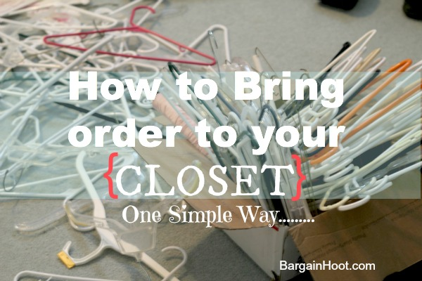 Easiest way to bring order to your closet:: Buy these clothes hangers!