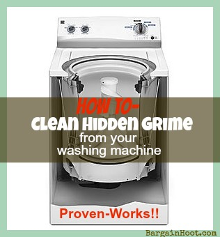 how to clean hidden grime from your :: top loader :: washing machine