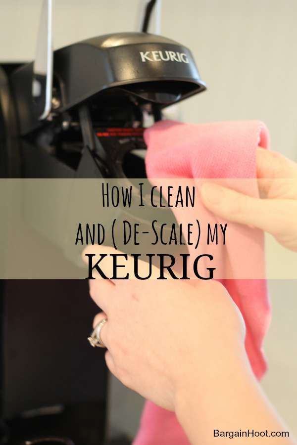 How to clean and (De-scale) a Keurig one cup coffee maker