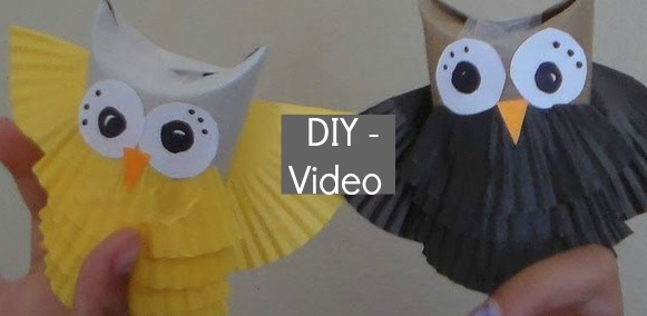 DIY Toilet paper roll owls:: fun for kids