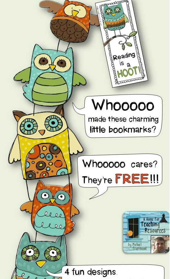 Free Printable Owl book-markers:: Hoot cute!
