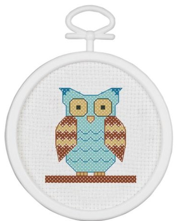 Counted cross stitch owl kit