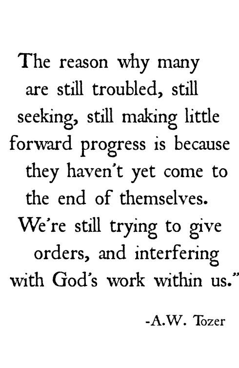 A. W. Tozer quote