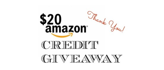 Amazon Giveaway- $20 credit- offer ends tonight 12PM