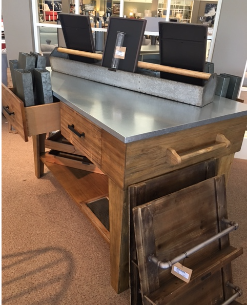 Delightful Kitchen Island With Stainless Steel Top