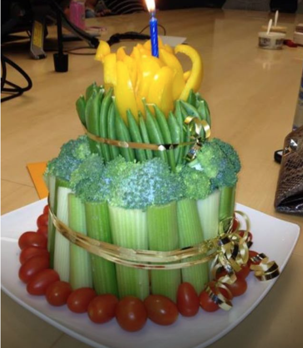 Stupendous Healthy No Bake Fresh Fruit And Veggie Birthday Cake Examples Funny Birthday Cards Online Elaedamsfinfo